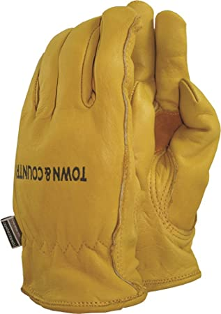 Town Country Large Superior Leather Lined Gardening Gloves for