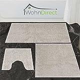 WohnDirect Badematte Rutschfest WC-Vorleger Waschbar Badezimmer 45x45cm MIT WC-Ausschnitt