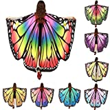 MORCHAN 1PC Femmes Butterfly Wings Shawl Foulards Ladies Nymph Pixie Poncho Costume Accessory Halloween Accessoires Femme (A, Multicolore)