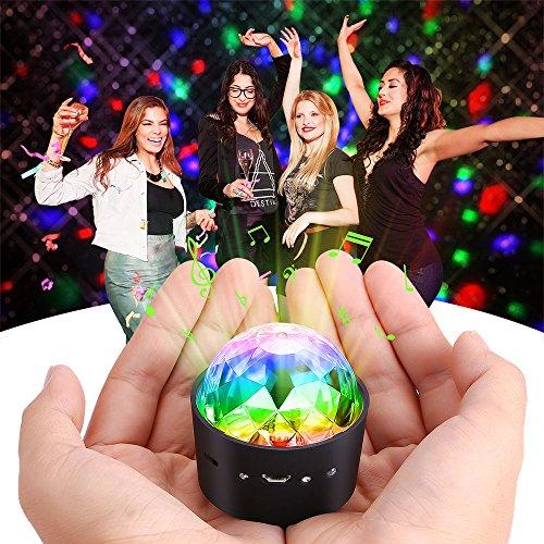 el , Partylicht Discolicht Magic Musik Discokugel Disco beleuchtung Partybeleuchtung DJ Discokugel mit Spiegeln und Glitzer für Parties mit integriertem Akku (Kleine Disco-kugel)