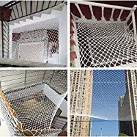 Safe Net Balcony Protection Net Child Safety Net, Child Protection Net Patios And Railing Stairs Netting, Safe Rail Net For Kids/Pet/Toy, Sturdy Mesh Fabric Material, ite Color
