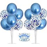 Rouge pour d/écorations de f/ête 2 Set Support de Ballon Table avec des b/âtons en Plastique,16 Ballons en Latex JIASHA Support de Ballon