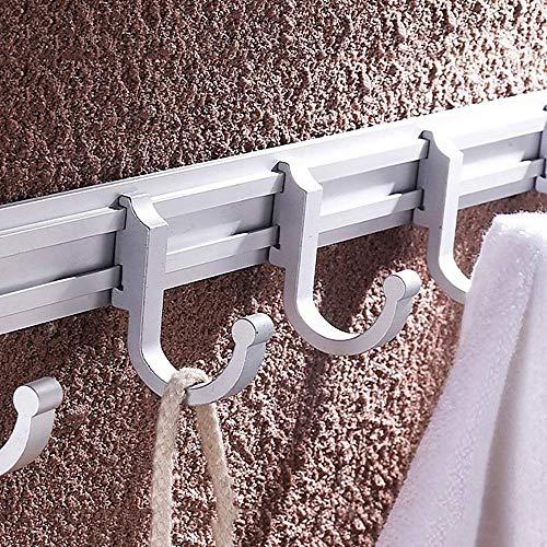 ZHIYIJIA Haushalts-Bad, Bad/Handtuch-Bar hängenden Handtuch Wand Kleidung Handtuch Haken Wand kreative frei hängende Kleidung hängenden Handtuch hängen Handtuch-Bar,7 Haken - Hängende Handtuch Bar
