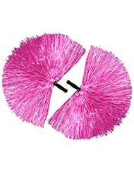 COM-FOUR® 2x Cheerleader PomPom in pink