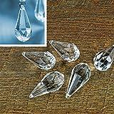 5 Kristall-Anhänger Tropfen 2,3 x 5,1 cm