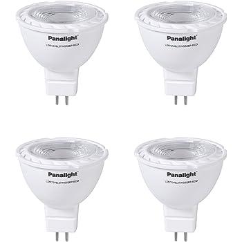 Panalight Pack de 4 Lámparas Led Dicroica GU5.3 de 5 W, 2700K