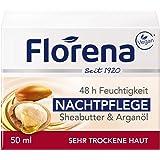 Florena Nattvård Fuktkräm med Sheabutter & Arganolja Vegan, 1-pack, (1 x 50 ml)