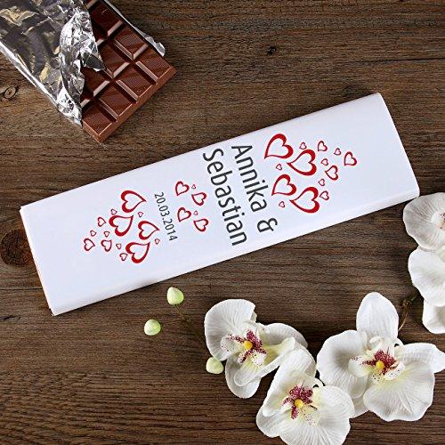 private schoki Hochzeitsschokolade mit Namen und Hochzeitsdatum