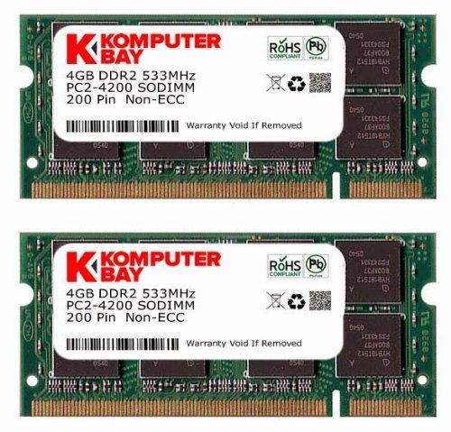Komputerbay Speicher-DDR2SODIMM PC2-4200/PC2-4300533MHz 200Pin für Laptop 1GB 8 Go (2 x 4 Go) - 533 Mhz-pc2