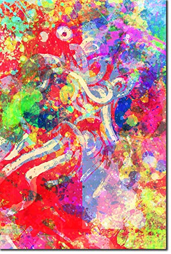 TPCK Flying Spaghetti Monster Kunstdruck Colourburst Hochglanz Foto Poster Plakat - Atheism Atheist - Maße: 30 x 20 cm