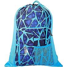Speedo Deluxe Ventilator Mesh Bag Mochila, Unisex Adulto, Azul Jaula, One Size