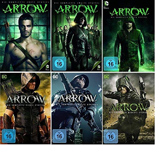 Arrow Staffel 1-6 (1+2+3+4+5+6) DC Serie [DVD Set] (Arrow-staffel 1)