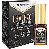 Reverzo Vitamin C Serum with 20% Vitamin C + Hyaluronic & Ferulic Acid for Skin Brightening, Even Skin tone, Anti-aging…