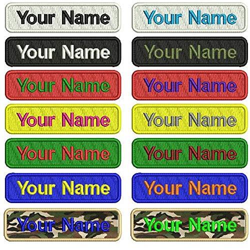 Militare personalizzata con ricamo patch Name 2pezzi numero tag personalizzato logo ID per multiple abbigliamento manica gilet giacche lavoro camicie, 4 inches x 1 inch