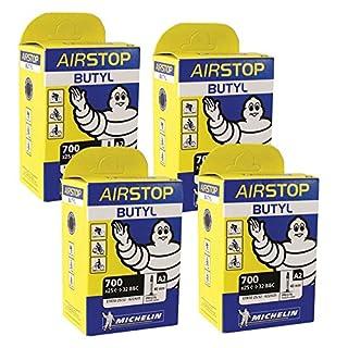 4 x Michelin Road Bike Airstop inner tube 40mm Presta Valve 700 x 25 / 32 tube