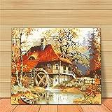 Godess4 Ölgemälde Gemälde von Digital Suite - Holzhaus 16 x 20 Zoll Füllen Sie Ihre handgemalte Dekoration mit digitalem Ölmalerei