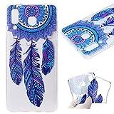 Yobby Klar Hülle für Samsung Galaxy A9 2018,Süß Traumfänger Muster Handyhülle Ultra Dünn Weiche Silikon Transparent Flexibel TPU Stoßfest Schale für Mädchen Frauen