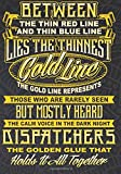 The Thin Gold Line Represents Dispatchers The Golden Glue That Holds It All Together: 2018 - 2019 Calendars, Journal, Planners & Personal Organizers - ... Emergency Dispatchers Thin Gold Line)