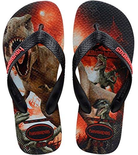 Havaianas Jurassic World, Sandales Plateforme Garçon - Noir (black 0090) - 25/26 EU