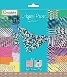 Avenue Mandarine - Cartoncini Decorati per Origami 20 x 20 cm Geometrico.