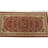 Sona-Lux Alfombra tejida clásica color rojo tamaño: 80x 160cm