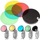 GODOX AD-S11 fotografía Color Filtro Gel Pack + Reflector de Rejilla para Witstro Flash AD200 AD180 AD360 AD360II