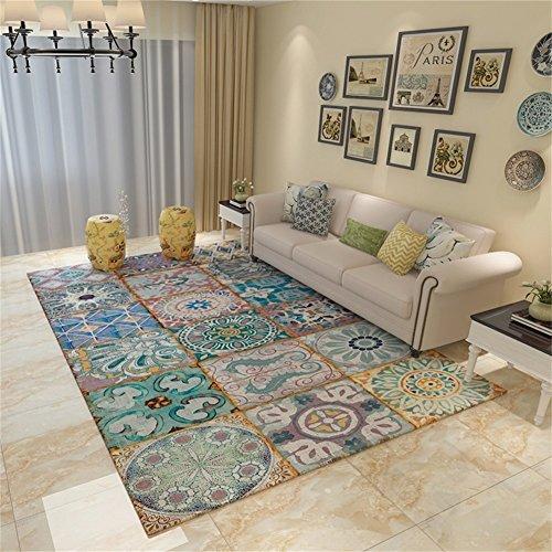Q Bunte rutschfeste rechteckige Teppich Wohnzimmer Couchtisch Schlafzimmer Bedside Bereich Teppiche/Matten (größe : 140*200cm)