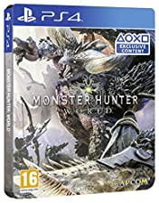 Monster Hunter World Steel Book Edition (Exclusive to Amazon.co.uk) (PS4)
