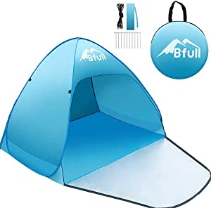 Bfull Tenda da Mare per 1/2 Persone con Protezione Raggi UV, Tenda da Spiaggia