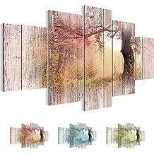 Cuadros de 200 x 100 cm - Cuadro de Bosque - Cuadro en lienzo no tejido - Imagen artística en lienzo para la pared - Impresión de arte – Imagen para la pared – Formato XXL –Más colores y tamaños en la tienda – ¡¡¡Totalmente estirados!!! ¡¡¡100 % FABRICADOS EN ALEMANIA!!! - Bosque 606451a