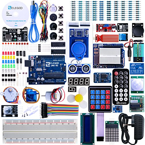 Electronics kits amazon elegoo uno r3 project the most complete ultimate starter kit wtutorial uno r3 controller board lcd1602 servo stepper motor for arduino uno project solutioingenieria Image collections