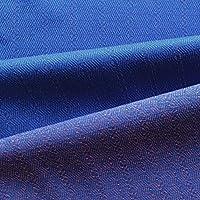 Bicolore Jacquard misto viscosa Shirting Tessuto, colore: blu con motivo a contrasto arancione filati–Diamante geometrica, (Drappeggiato Top & Gonna A Fessura)