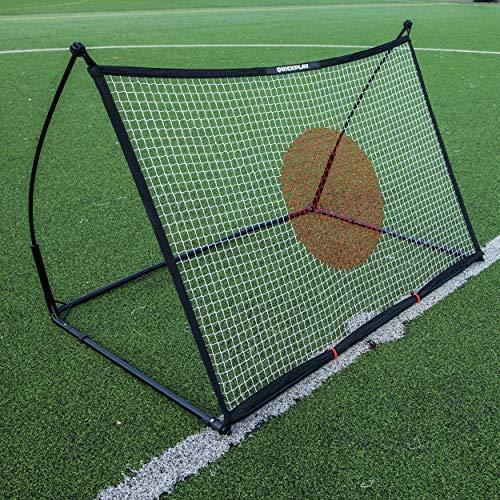 QUICKPLAY Spot Ziel Fußball Rebounder 1,5 x 1M - Jetzt mit kostenloser eCOACH Trainings App -