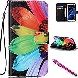 Coque Galaxy S7 Edge, Strap Wallet Case Cover Colorful Cuir Retro PU flip Case le livre de style étui en cuir de cas de téléphone avec support avec fonctions poches de fermoir magnétique Case magnétique couverture pour Samsung Galaxy S7 Edge