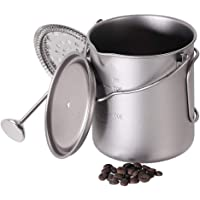 Lixada Camping Water Cup with Foldable Handles and Lid 750ml Stainless Steel Mug Hanging Pot for Camping Hiking…
