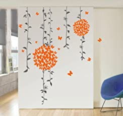 Decals Design 'Butterflies' Wall Sticker (PVC Vinyl, 50 cm x 70 cm, Multicolour)