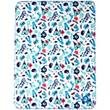 Mee Mee Soft Baby Blanket (Multipurpose, Dark Blue - Zebra Print)