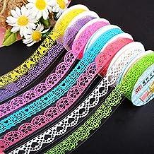 westeng 3rollos encaje cinta adhesiva decorativa washi cinta adhesiva adhesivos cinta adhesiva de papel Scrapbooking DIY Craft