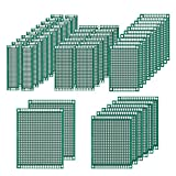 Tonver 50pz double Sided PCB Board Prototype kit saldatura 5taglie, circuito stampato universale per fai da te e progetto elettronico