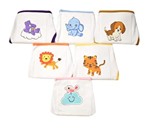 SoftcareTotzTouch Premium Cotton Hosiery Fabric Wide Padded Baby Reusable Nappy/Langot Age (0 Months - 3 Months) Pack of 6 (Children: XS)