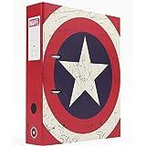 Erik® - Classeur à levier Marvel Captain America   Classeur A4   Fournitures Scolaires, Fournitures de Bureau
