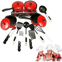 Deanyi 13PCS / Creative Set de Cuisine Pretend Jouets Enfants Cuisine Jouets Enfants Jouer Cuisine Sets rôle Jouer…