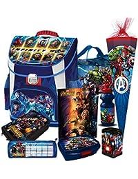 Scooli Schultüte blau Marvel Helden HULK THOR Avengers Schulranzen Set 7tlg