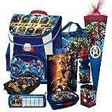 Avengers Premium Schulranzen Tornister Ranzen Set Marvel Helden Thor Hulk Iron mit Schultüte inkl. Regenschutz von Nicos-Schulranzen