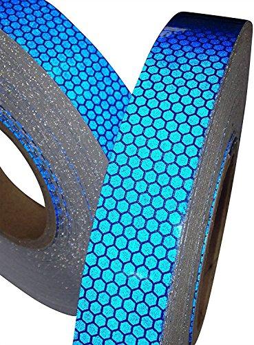 Tuqiang® - nastro adesivo riflettente, blu, 25 mm x 2,5mm, 1 pezzo