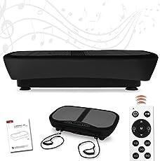 Letix Sports Profi Vibrationsplatte mit 3D Wipp-Vibration + Bluetooth Musik inkl. Lautsprecher, große Standfläche, 2 Kraftvolle Motoren + Trainingsbänder und Fernbedienung