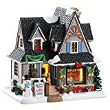 Lemax 85352 - Holiday Open House - Neu 2018 - Caddington Village - Beleuchtetes & Animiertes LED Porzellanhaus/Weihnachtshaus - Dekoration/Weihnachtsdeko - Weihnachtswelt/Weihnachtsdorf
