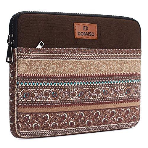 DOMISO 14 zoll Laptop Sleeve Hülle Tasche Canvas Fabric Flower Pattern Abdeckung für 13.5
