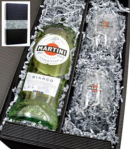 Martini Bianco 14,4% 0,75l mit 2 Gläsern in Geschenkkarton von