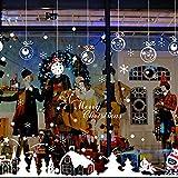 zarupeng Cabina de Navidad la decoración del hogar de vinilo ventana pegatinas de pared decorativos★extraíble★ (Multicolor)